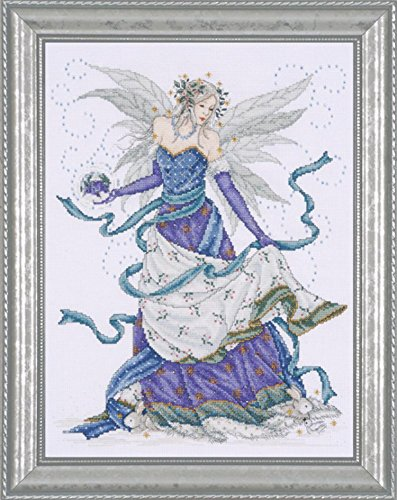 Design Works - Ice Fairy - Counted Cross Stitch Kit 2739 with Gift Card, 12 by 15-inches