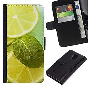 Paccase / Billetera de Cuero Caso del tirón Titular de la tarjeta Carcasa Funda para - - Samsung Galaxy Note 4 SM-N910