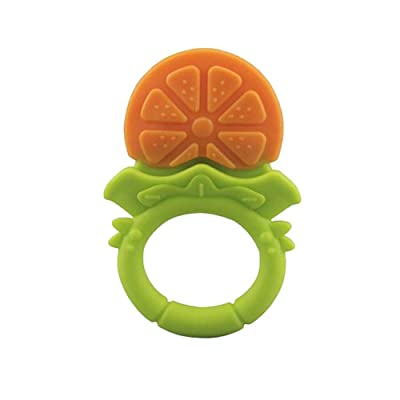 Slendima Silicone Baby Teether Fruit Grape Strawberry Orange Design Teething Chew Ring Toy Gift for Kids: Toys & Games