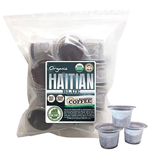 Haitian Blue Coffee Organic, 12 ct. FRC Cups, Fresh Roasted Coffee LLC.