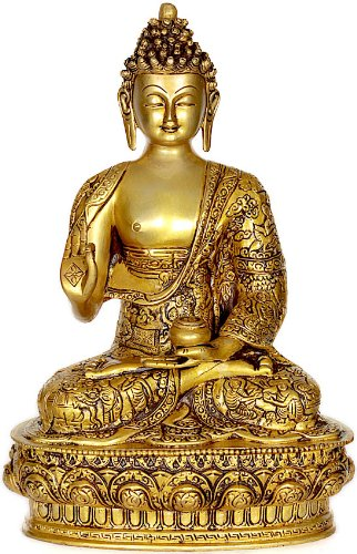 Lord Buddha - Brass Sculpture by Exotic India