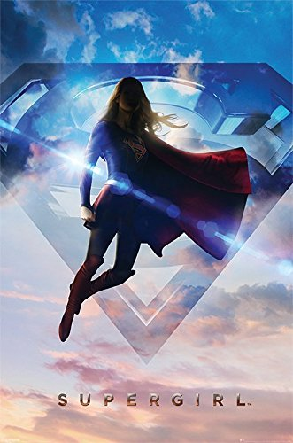 Kara Danvers Costume (Supergirl - TV Show Poster / Print (Logo & Clouds) (Size: 24