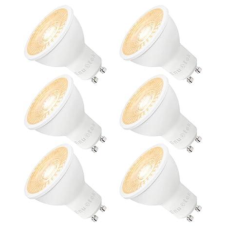 Lamparas Bombillas de LED Casquillo GU10 Regulables 7W Focos Luz Calida 3000K Brillo Alto 650Lm 185V-265V para Lamparas Focos LED Empotrables Pack de ...