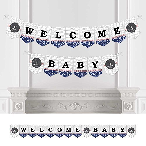 Shoots & Scores! - Hockey - Baby Shower Bunting Banner - Sports Party Decorations - Welcome Baby [並行輸入品]   B075P1PD1X