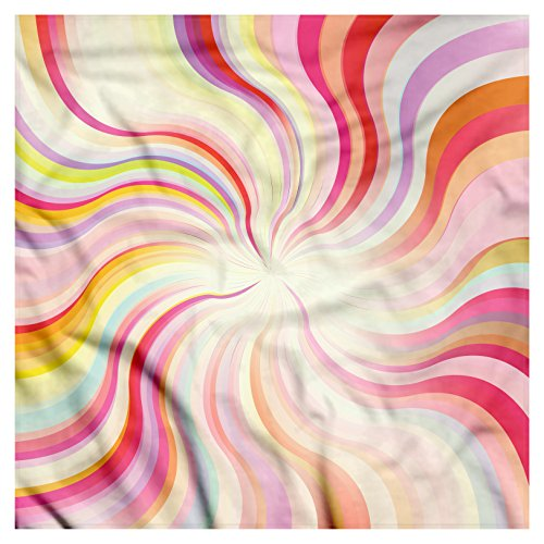 (Ambesonne Unisex Bandana, Pastel Wavy Lines Sixties, Pink Cream)