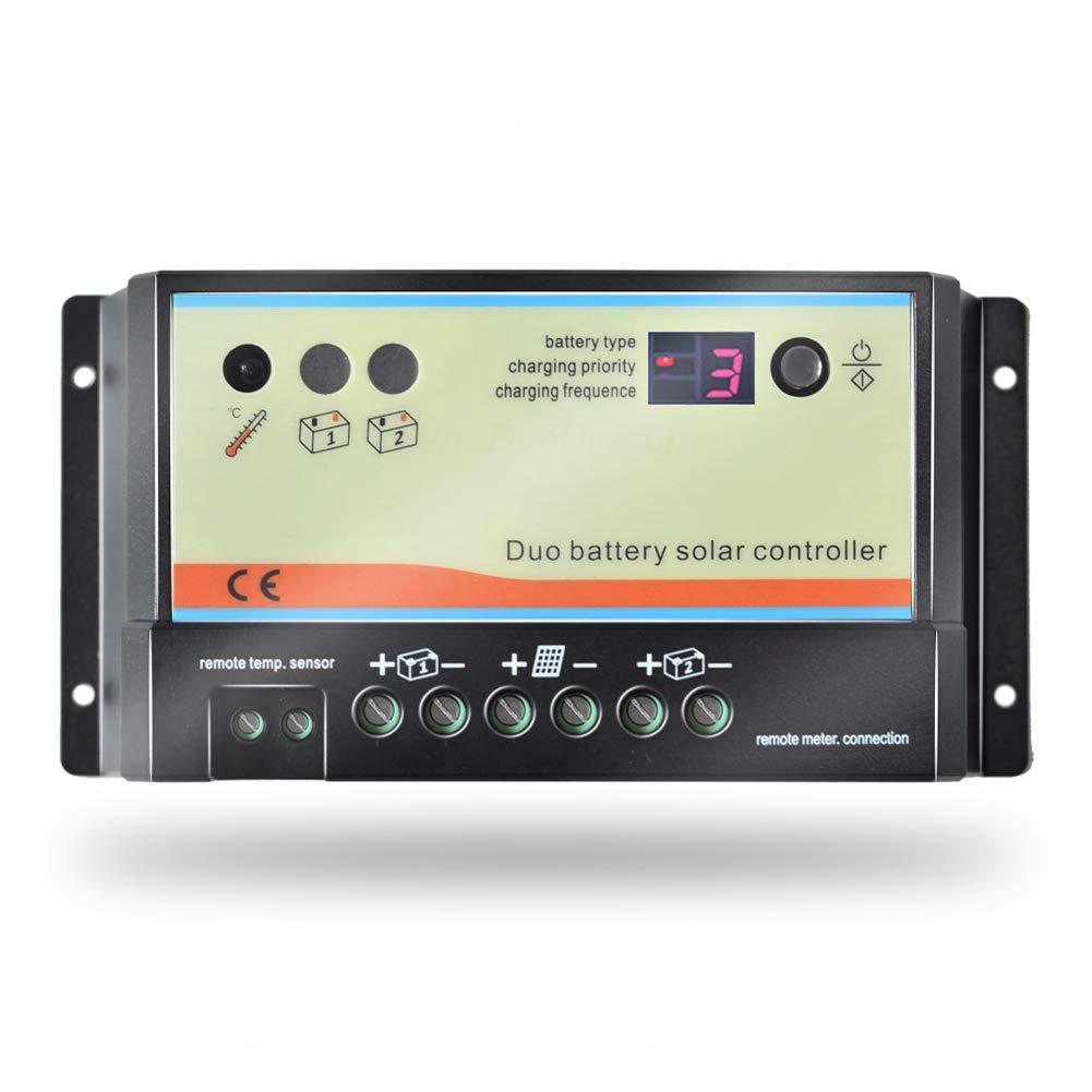 EPEVER Dual Battery Controlador solar de carga 20A 12V 24V Regulador solar