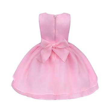 feiXIANG Vestido de niña, Vestido de Princesa Fiesta de cumpleaños Vestido de Boda de la