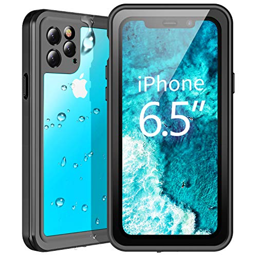 Temdan Waterproof iPhone 11 Pro Max Case,Rugged Heavy Duty Support Wireless Charger Full Body Shockproof Clear Case Built in Screen Protector Underwater Case for iPhone 11 Pro Max 6.5 inch 2019