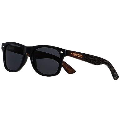 d44b16481a Wooden Sunglasses For Men Women - Wood Bamboo Frame ANDWOOD Blenders Eyewear  Vintage Polarized Athletic