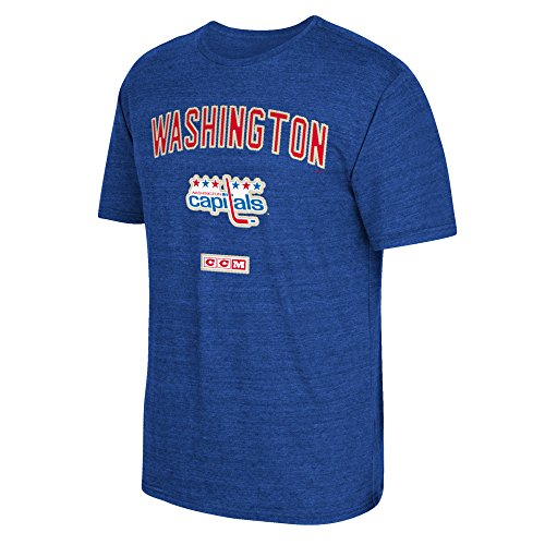 NHL Washington Capitals Men's CCM Stitches Needed Tri-Blend Short Sleeve Tee, Large, Blue