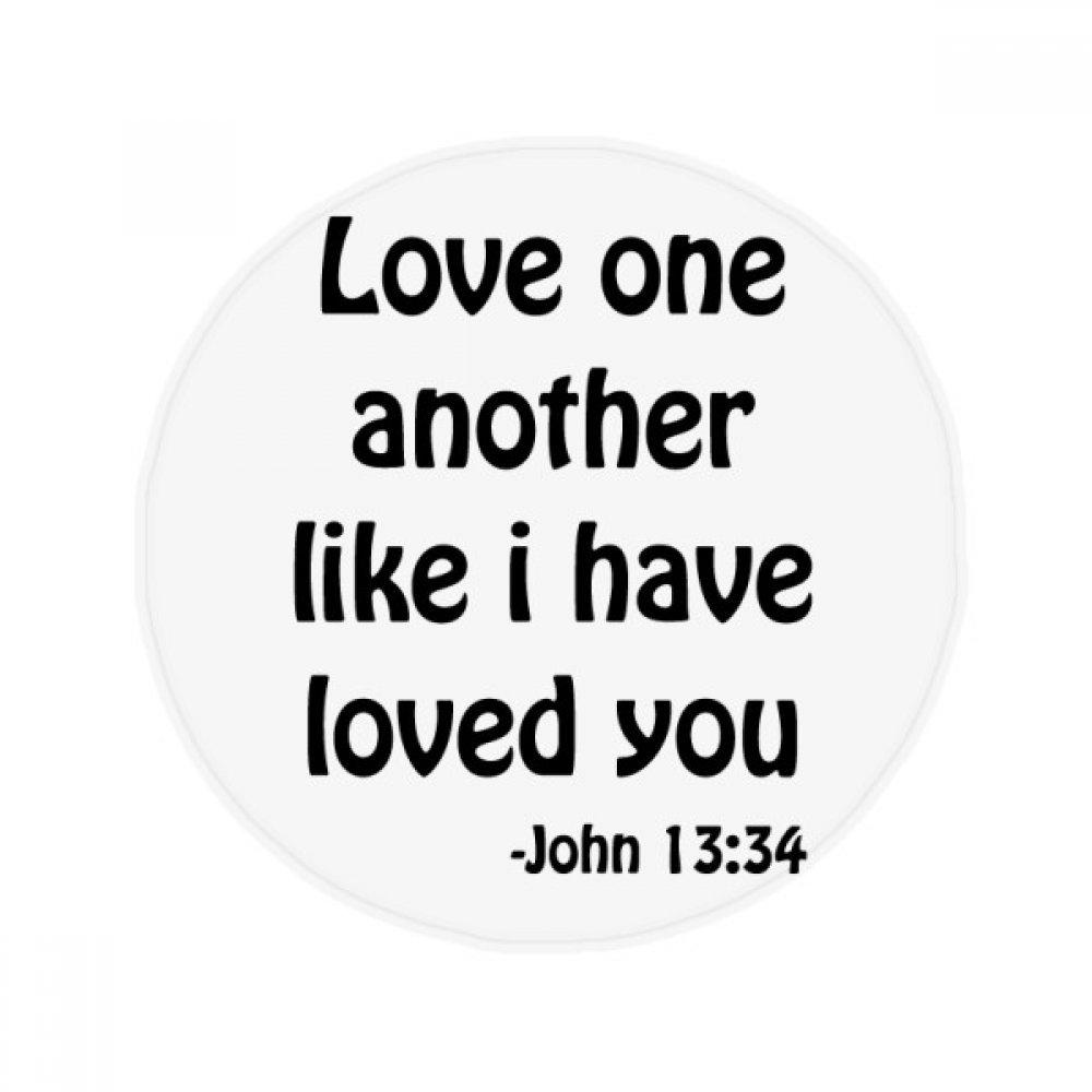 DIYthinker Love One Another Christian Quotes Anti-slip Floor Pet Mat Round Bathroom Living Room Kitchen Door 60/50cm Gift