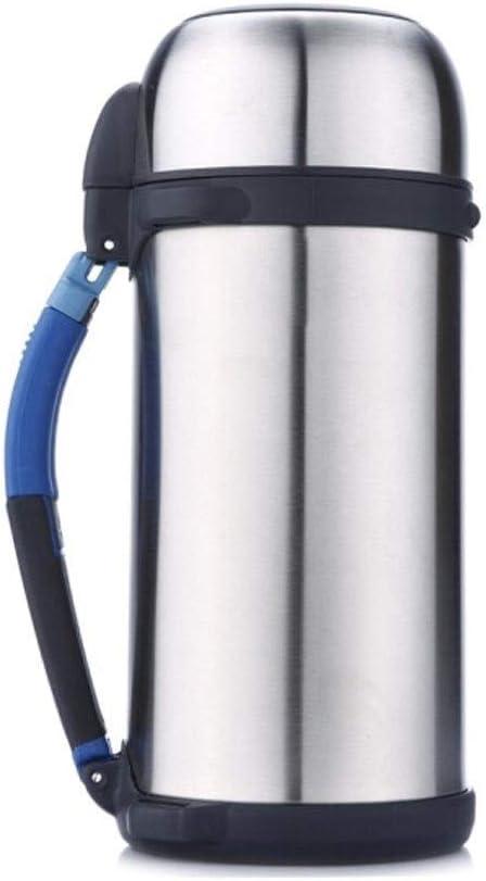 TPXR 断熱ポット、真空ステンレス鋼アウトドアスポーツ旅行断熱ポット、断熱材ロックコールド、健康、容量:1.5リットル (Color : Silver, Size : 1.5 liters)