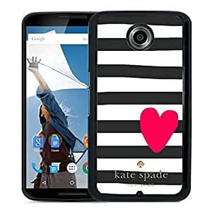 Unique Designed Kate Spade Cover Case For Google Nexus 6 Black Phone Case 219