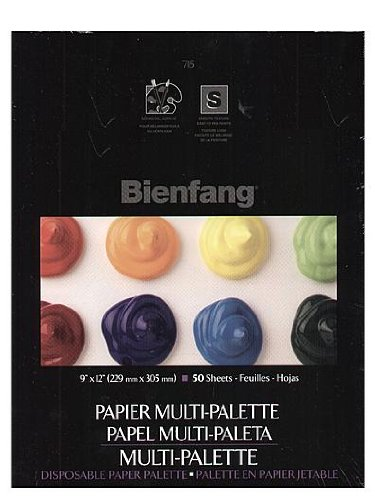 Bienfang Multi-Palette Disposable Paper Palette without thumb hole 12 in. x 16 in. [PACK OF 2 ] by Bienfang