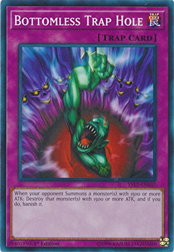 Bottomless Trap Hole - YS17-EN037 - Common - 1st Edition - Starter Deck: Link Strike (1st (Yu Gi Oh Bottomless Trap)