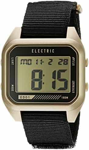 Electric Unisex EW0110070110 Digital Display Quartz Black Watch