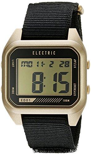 Electric Unisex EW0110070110 Digital Display Quartz Black Watch by Electric