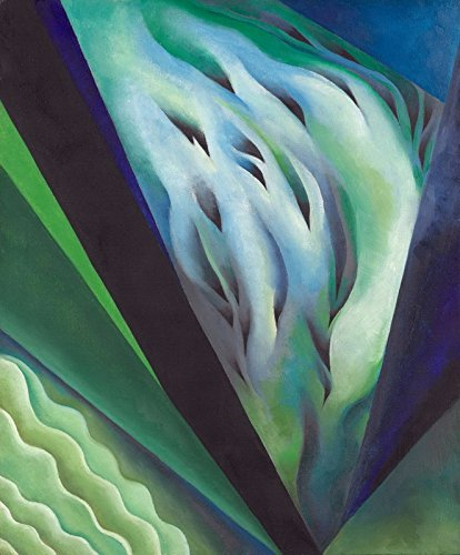 Berkin Arts Georgia O'Keeffe Giclee Canvas Print Paintings Poster Reproduction (Blue and Green Music) (Georgia O Keeffe Blue And Green Music)