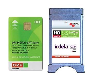 Triax CI + Irdeto ORF Set Cam Module and ORF HD Card: Amazon