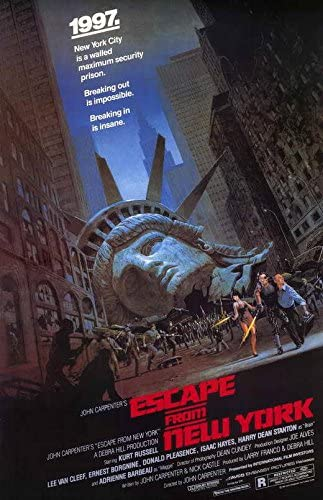 Amazon.com: Escape from New York Movie POSTER 27 x 40 Kurt Russell ...