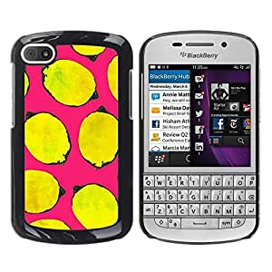 Be Good Phone Accessory // Dura Cáscara cubierta Protectora Caso Carcasa Funda de Protección para BlackBerry Q10 // Yellow Life Art Pink Minimalist