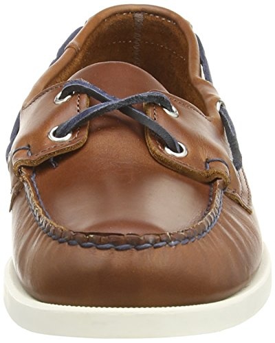 Sebago Boat Leather Men's Cognac Spinnaker Navy Shoe rqErCwPp