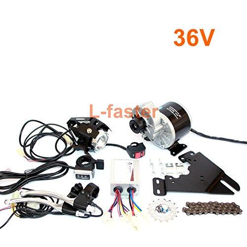 350ワット電動バイクチェーンドライブキット缶フィットバイク使用44ミリメートルディスクブレーキ電動自転車サイド取り付けられたブラシモーターキット12 tフリーホイール [並行輸入品] B076GK4KX936V Thumb throttle