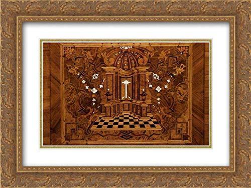 Johann Justus Schacht - 24x18 Gold Ornate Frame and Double Matted Museum Art Print - Choir stall Panels