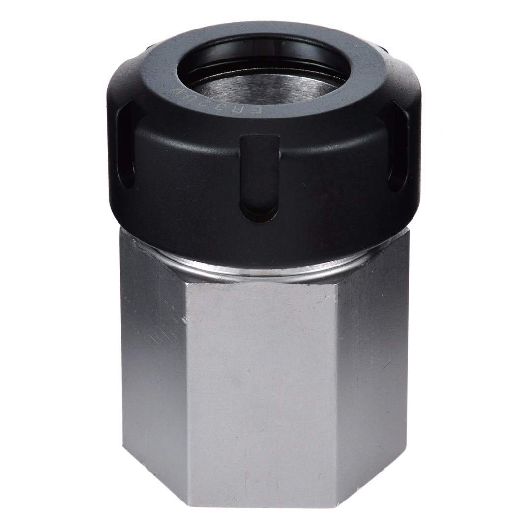 TOOGOO 1pc Spring Chuck Collet Holder Hex ER32 Collet Block 45x65mm for Lathe Engraving Machine