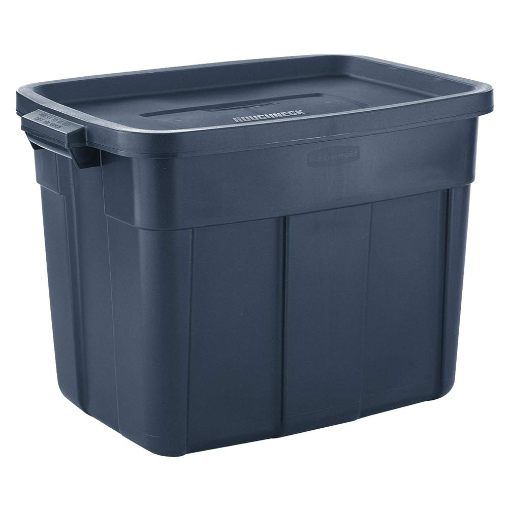 Rubbermaid Roughneck️ Storage Tote 18 Gal Pack of 6 Rugged, Reusable, Stackable, Container by Rubbermaid