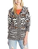 Volcom Junior's Wild Yonders Oversized Hooded Cardigan Chunky Sweater, Bone, X-Small/Small