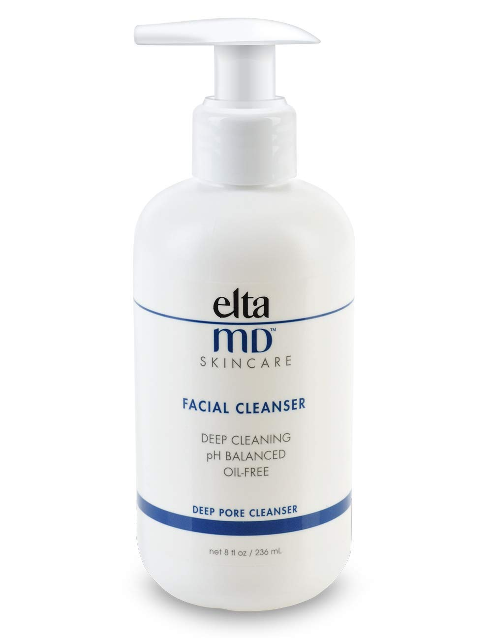 EltaMD Facial Cleanser, Oil-free, Removes Makeup, Dermatologist-Recommended, Face Wash, 8 Fl. Oz