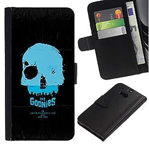 YiPhone /// Tirón de la caja Cartera de cuero con ranuras para tarjetas - Los Goonies - HTC One M8