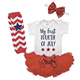 Newborn Fourth of July Outfit 1st Fourth of July 4 Piece Outfit Set