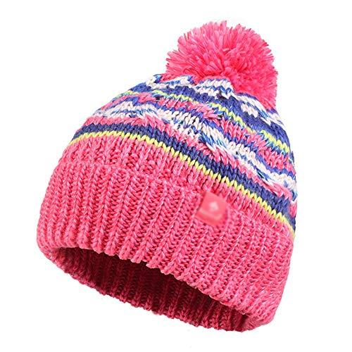 Sjjl Mezclado Pink Punto Invierno Sombrero Mujer E Lana Orejeras color Moda Punto De Pink Caliente Color Otoño pqwprnva
