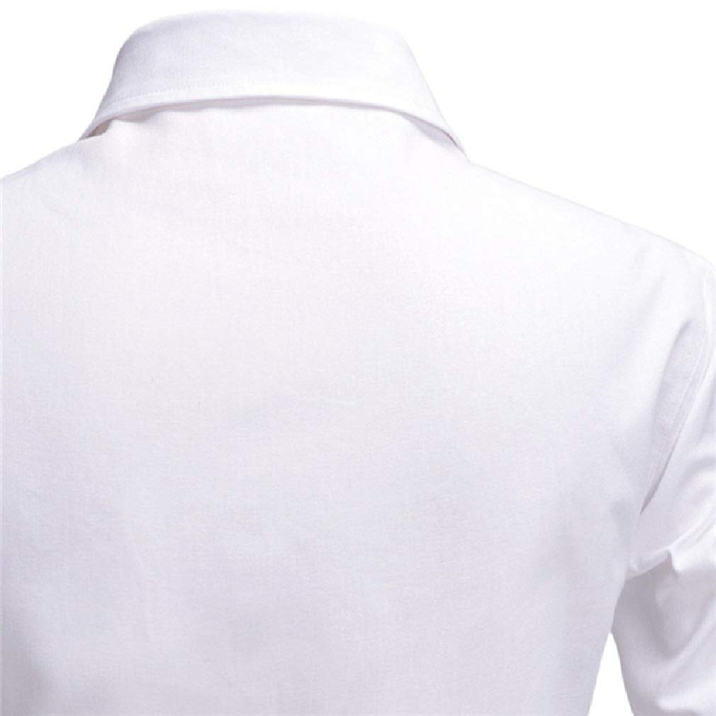 Mfasica Men Peaked Collar Long-Sleeve Solid Regular-Fit Shirts with Pockets
