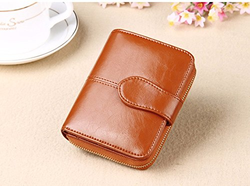 Money coming shop Genuine Real Leather Women Short Wallets Small Wallet Zipper Coin Pocket Credit Card Wallet Female (Game Of Thrones Money Clip)