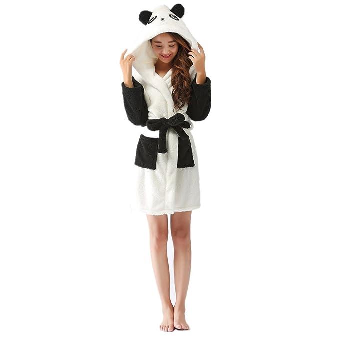 Amazon.com: Tickos Adult Bathrobe Animal Flannel Cosplay Adult Unisex Hooded Bathrobe: Clothing