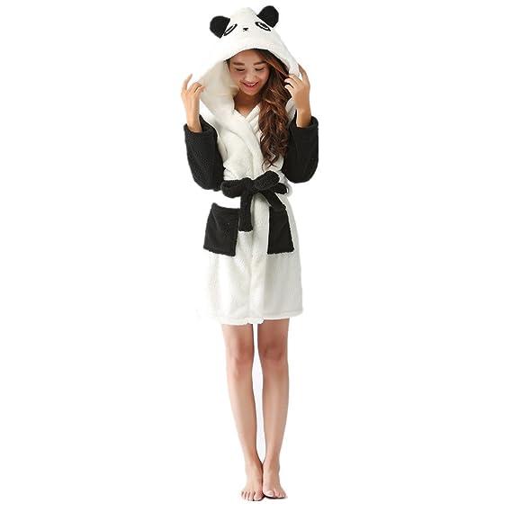 687e5ae8ce07d oamore Femme Peignoirs de Bain Animal Cosplay Peignoirs Vêtement de Nuit  Encapuchonné Mignonne Lapin Panda Vache Mouton Conception: Amazon.fr:  Vêtements et ...