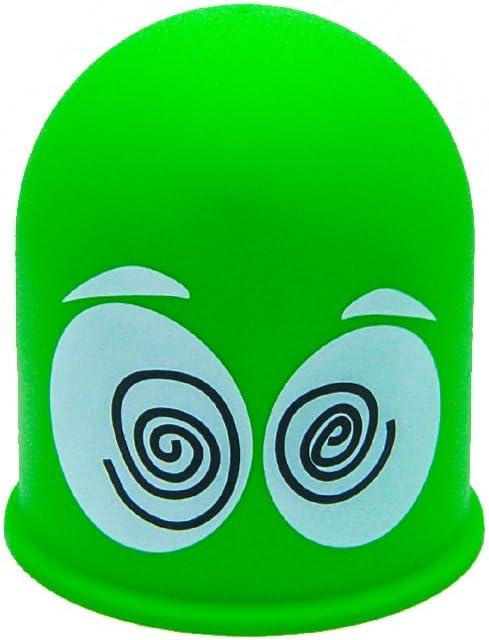 Schutzkappe Anhängerkupplung Abdeckkappe Cap Geschenk Schwindlige Augen Grün Dizzy Eyes Auto