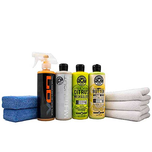 Chemical Guys HOL204 White Car Care Kit (9 Items) for White and Light Colored Cars, Trucks, and SUVs