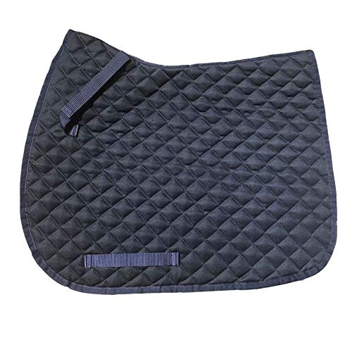 One Size GS Equestrian Unisexs General Purpose Saddle Pad Navy