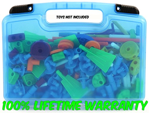 Life Made Better Tinker Toys Case, Toy Storage Carrying Box. Figures Playset Organizer. Accessories for Kids by LMB