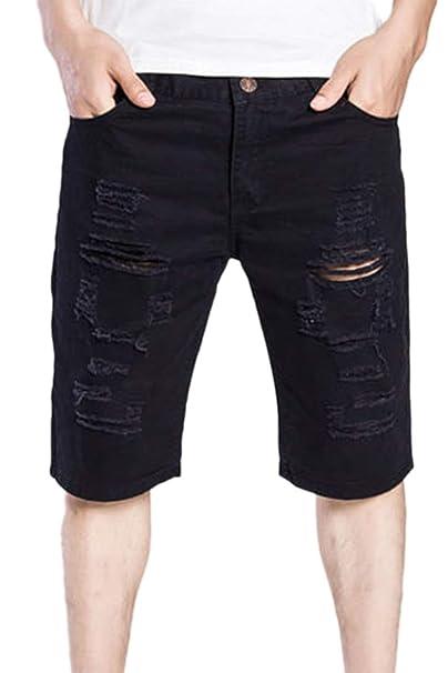 di prim'ordine a5dfa 5f074 Adelina Jeans Strappati da Uomo Pantaloni di Corti Pantaloni ...
