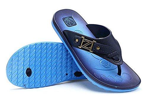 GLTER Hombres Chancletas Verano Respirable Zapatillas Playa Sandalias Casual Blue