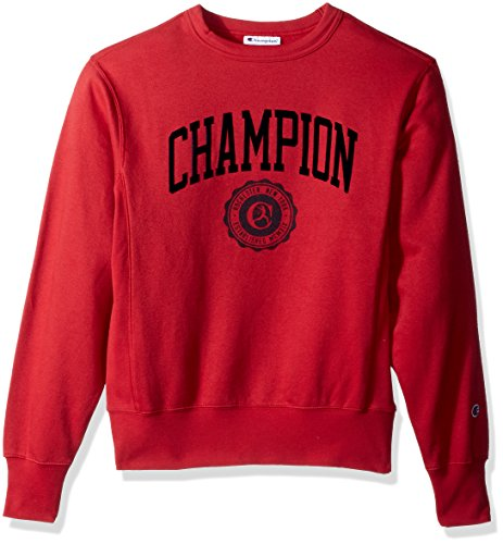 Champion Men's Heritage Pullover Sweatshirt, Fire Roasted Red, Medium