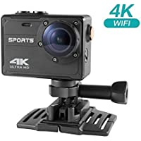 Adventurers Sports Camera 2.0 inch LCD Wifi 4K Ultra1080P 16MP 120 FPS Waterproof Sports Action Camera DV DVR Cam Camcorder with 2 Adapters Various Practical Accessories