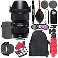 Sigma 24-35mm f/2 DG HSM Art Lens for Canon + Accessory Bundle