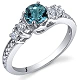 Enchanting 0.50 Carats London Blue Topaz Ring in - Best Reviews Guide