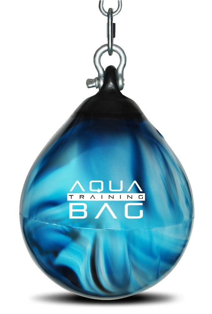 Aqua Training Bag Bad Boy Blue Aqua Head Hunter 12 Inch, 35 Pound Slip Ball Punching Bag Hybrid